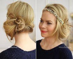 DIY Vintage Hairstyles: Headband Tuck Flapper Hairstyle Tutorial  #retrohair #vintagehairstyles #vintage