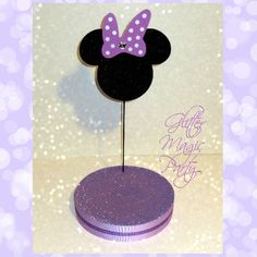 Minnie Mouse Stand - Lollipops / Cakepops Holder - Lavender / Purple Minnie Mouse - Minnie Mouse Inspired