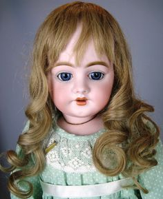 Simon Halbig 1009 Antique Bisque Head German Doll ~ Early Mark