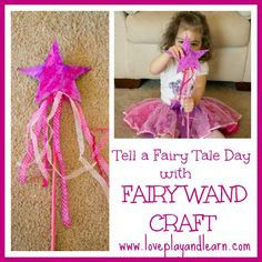 Fairy wand craft for kids - because every little girl would enjoy creating her own fairy wand