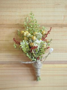 Dried flowers for boutonniere and bouquets