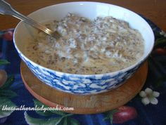 Hamburger Creamed Gravy or SOS - This gravy is wonderful over toast, biscuits, rice, pasta, potatoes and grits!  I love it over mashed potatoes.  Some people make this with chipped or dried beef, too. This was an Army staple, thus the SOS name.  I can remember having this gravy for breakfast over toast when I was a child.  An easy and economical dish.