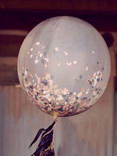 Giant Confetti Filled Balloon with Tassel Custom by PomJoyFun