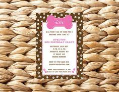 Puppy Dog Birthday Party InvitationDIY by shopdandi on Etsy, $15.00