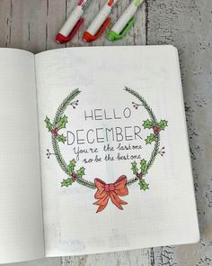 Hello Christmas theme! It's finally there, the last month of the year! In a few hours I will publish my complete December setup on http://www.howtobulletjournal.com