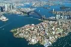 Sydney Harbour + Bridge from above // #Sydney von oben