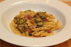 Penne with Zucchini and Pancetta by Nonna