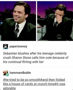 And this is why we love Seb so much... he's an adorable dork just like all us normal people