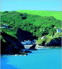 Llangrannog - a scenic settlement located just south of New Quay, to the north of Tresaith, West Wales, Uk