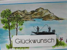 Kartenfenster: Geburtstagskarte für Angler und Fischer III