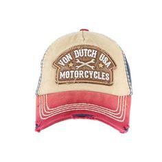 Casquette Von Dutch Rouge et Bleu Dylan Motorcylces  #vondutch #vintage #garage #lifestyle #bonplan Garage, Motorcycle, Hats, Fashion, Red And Blue, Man Women, Photography Tricks, Carport Garage, Moda