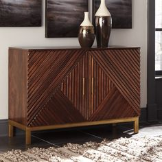 Signature Design by Ashley Forestmin Medium Brown Accent Cabinet & Reviews - Goedekers.com