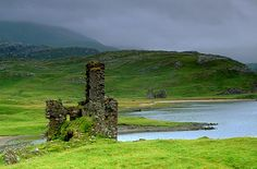 Ruined castle that stands on its own promontory overlooking Loch Assynt. Description from scotland.org.uk. I searched for this on bing.com/images