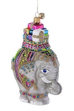 Jingle Nog Hand Blown Glass Ornament Zoey The Elephant Glass Christmas Ornaments Christmas Themes