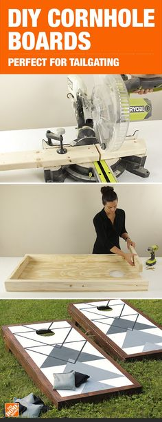 Whether you call it cornhole or bag toss, these boards are the perfect fun for tailgates and backyard parties. Build your own DIY corn hole board with these simple plans from Jenn of Build Basic. diy games DIY Cornhole Game for Tailgating or Backyard Fun Bbq Party Games, Backyard Party Games, Diy Yard Games, Backyard Cookout, Diy Games, Wedding Backyard, Backyard Ideas, Garden Wedding, Garden Games