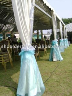 ideas for decorating a terrace - runner? sheer fabric, etc :  wedding alter decor sheer fabric terrace Pavilion