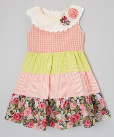 55b16b11a0ee Look at this Little Anmy Red & Yellow Flower Dress - Toddler & Girls on  today!