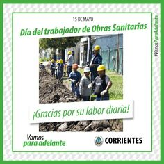 Día del trabajador de Obras Sanitarias #VamosParaAdelante