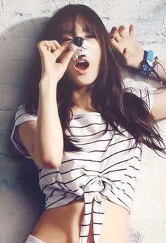 Taeyeon SNSD Girls' Generation Casio Baby-G GIF
