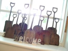 Collection of story telling shovels.