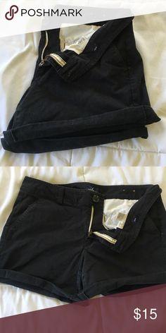American Eagle Black Midis Black Stretch Midi Shorts American Eagle Outfitters Shorts