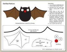 All Things Crafty: Free Felt Bat Pattern for Halloween