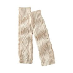 WOMEN HEATTECH Knitted Leg Warmers (Cable)