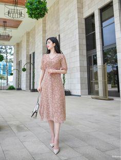 Source by dress korean Korean Girl Fashion, Korean Fashion Trends, Korean Street Fashion, Asian Fashion, Modest Outfits, Modest Fashion, Fashion Dresses, Dress Outfits, Cute Dresses