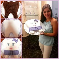 Cumpleañera feliz con su Torta muelita @katerinecabarcos #torta#cake#odontologo#dentist#dentista#muelita#dientes#sonrisas#muela#felizcumpelaños