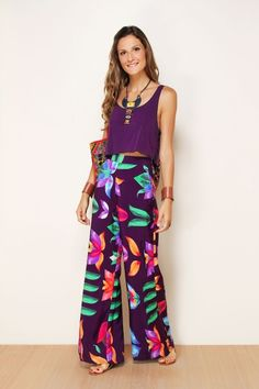 Estou in love com essa calça pantalona!!!
