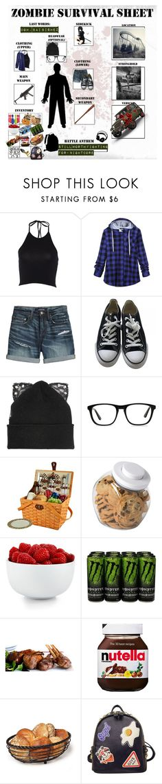 """""""zombie survival sheet"""" by lolmina02 ❤ liked on Polyvore featuring Canvas by Lands' End, Converse, RIFLE, Wrangler, Silver Spoon Attire, Ace, Picnic at Ascot, OXO, The Cellar and ASOS"""