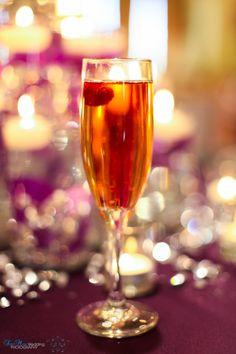 Signature Cocktail, Raspberry Champagne #bubbly #Mediterranean #villa #medvilladfw #wedding @SanMayPhotography www.mediterraneanvilla.net