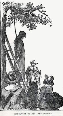 Sandwalk: The Hanging of Goodwife Knapp in 1653