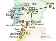 Detailed Map Of Spain Portugal And Morocco.9 Best Tours Images Portugal Travel Lisbon Portugal Touring