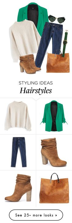 """""""Sweater"""" by taming-kate on Polyvore featuring River Island, Chicwish, Chinese Laundry, Clare V. and Spitfire"""