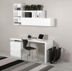 Desk and book case by Muurame. Contact Scandinavian Design, Inc. to purchase.