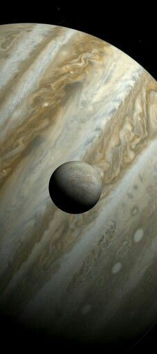 Europa and Jupiter. Image create with Celestia.