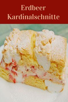 Erdbeer-Kardinalschnitte. Tiramisu, Cereal, Baking, Breakfast, Food, Cooking, Friday, Morning Coffee, Bakken