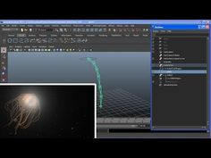 Controlling Joints with Dynamic Hairs in Maya