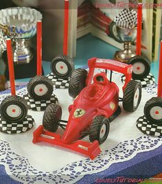 Race car cake topper tutorial