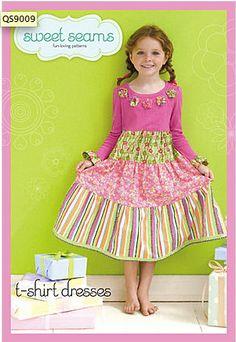 Sweet Seams Easy to Make T-shirt Dress Pattern