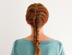 Meta Hair Hacks: 3 Ways to Style Braids in Braids - Brit + Co Diy Hairstyles, Pretty Hairstyles, Hair Styles 2014, Long Hair Styles, Fishtail Braid Styles, Helmet Hair, Long Hair Models, Gorgeous Hair, Hair Hacks