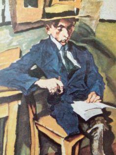 Ludwig MEIDNER - F.W.Murnau portrait, um 1914.