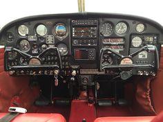 1967 Piper Cherokee 140 Instrument Panel with a Garmin 396 GPS Aeroplane Flying, Piper Aircraft, Douglas Aircraft, Cessna 172, Private Pilot, Flight Deck, Cherokee, Airplanes, Aviation