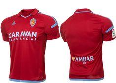 Camisas do Real Zaragoza 2017-2018 Adidas   Mantos do Futebol Camisas de Futebol