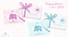 Grußkarten zur Geburt, Taufe, Kindergeburtstag erhältlich bei Grußkarte mit Herz