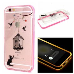 iPhone 6S Case, iPhone 6 Case, NCIE(TM) LED Flash Remind Incoming Call Blinking TPU Bumper Frame Protector Skin Luminous Case Cover for iPhone 6S/6 4.7' (P-18) -- This is an Amazon Affiliate link. Visit the image link more details.