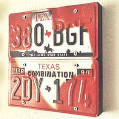 just this afternoon I was thinking I should do something with my old license plates from TX