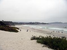 Carmel Beach, California  Bryan and Kerri took me here. Bry and I flew a kite, with him saying after it was aloft  'now what'  !!