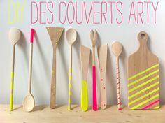 Diy : des couverts arty par Anne Hubert de la Cerise sur le Gâteau